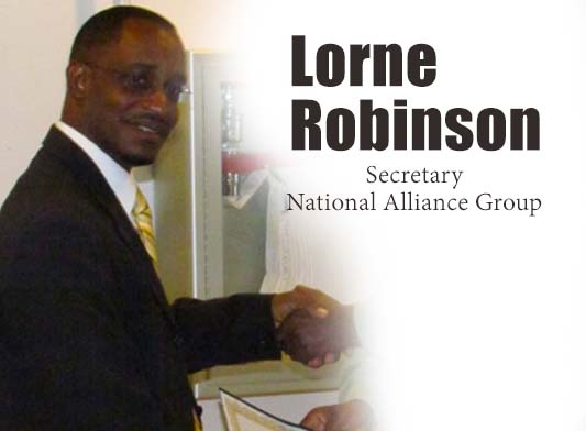 Lorne Robinson, Secretary