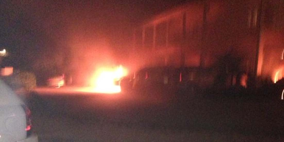 Jeep on Fire