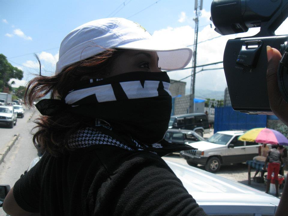 Dee covering Haiti Quake