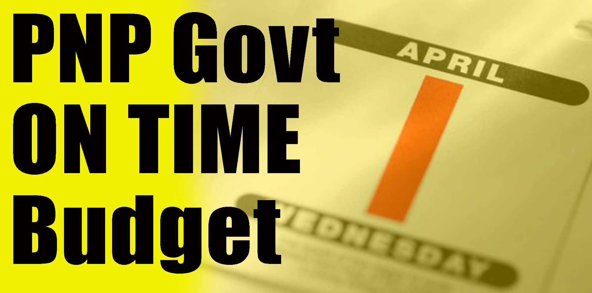 PNP on time Budget
