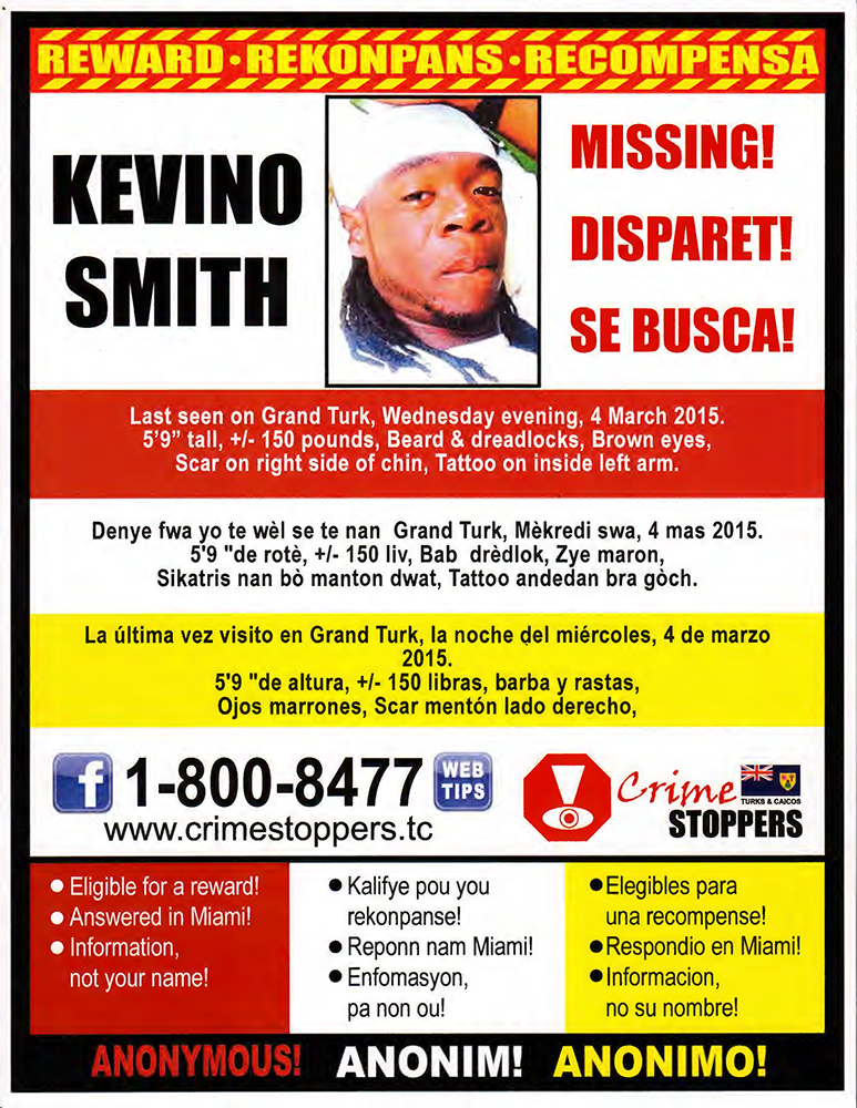 Kevino Smith Missing Poster