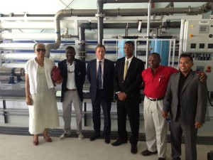 Photo:  RO Plant in Grand Turk commissioned in August 2013 with former Governor, Ric Todd