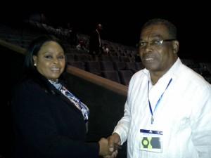 Hon. Misick & Hon. Ian Liburd, Minister Infrastructure,St.  Kitts & Nevis...