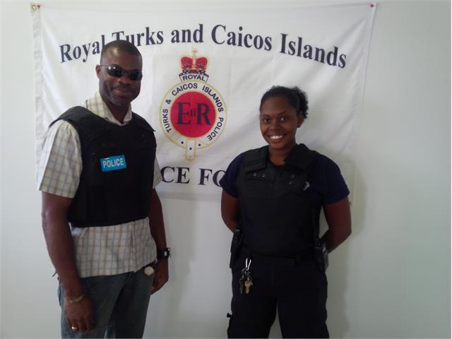 TCI Police in bullet proof
