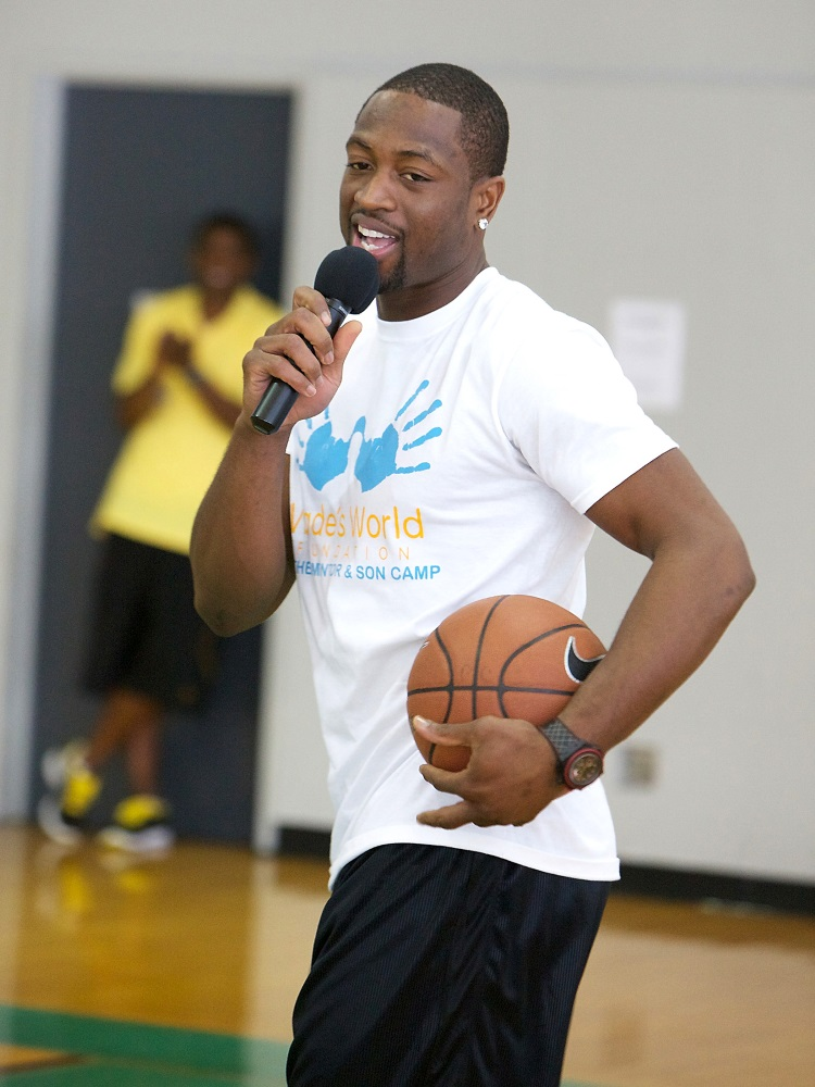 CHICAGO, IL - AUGUST 25: (EXCLUSIVE COVERAGE) Dwyane Wade attends the Dwyane Wade Father & Son Mentor Camp part of the Wade's World Weekend on August 25, 2011 in Chicago, Illinois. (Photo by Jeff Schear/WireImage for Wade's World Foundation)
