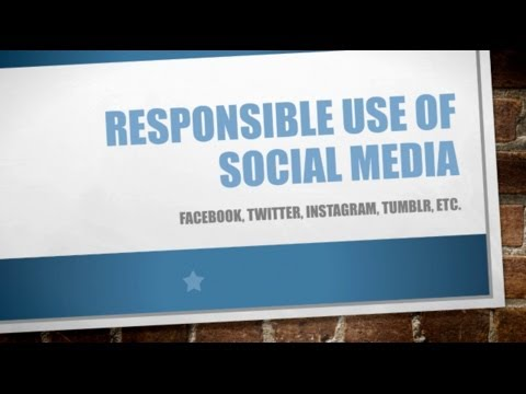 be responsible online