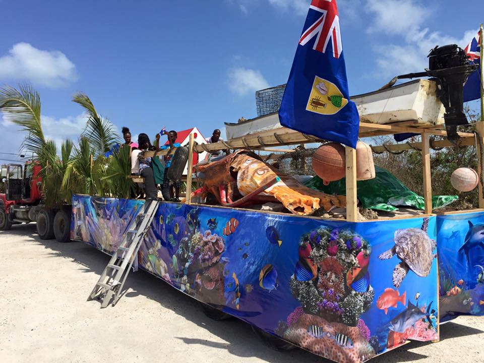 Five Cays TCI Flag parade