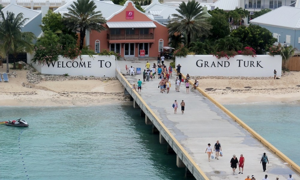Grand Turk Cruise Centre rainy