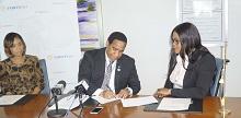 Eddinton Powell TCIFA Signing