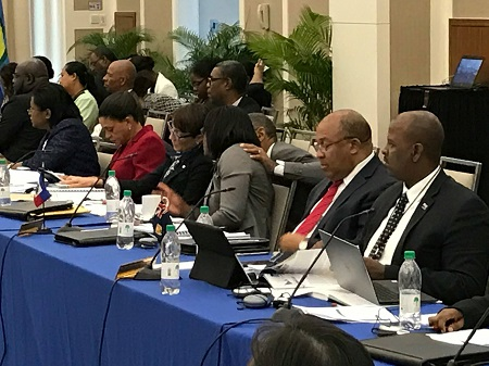 Sean at Caricom meeting