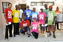McDonalds Walk - Earla Bethel along with 1st 2nd & 3rd place winners i...