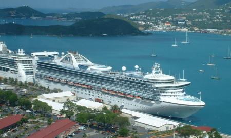 Caribbean Princess at port in St. Thomas.