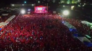 Crowd in Nassau for FNM rally Wednesday night