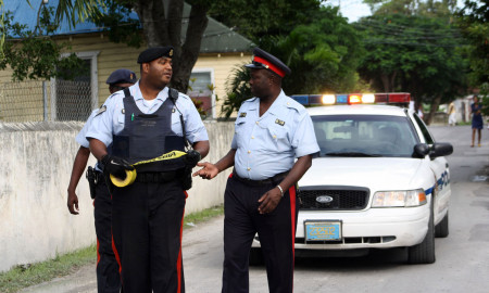 Bahamas Police Officers at work
