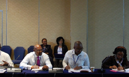 Minister Henfield at CARICOM Caucus