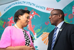 Min PintardCommonwealth Youth Games Press Conf July 16 2017. 121518