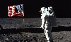 neil on the moon