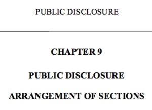 public disclosure act