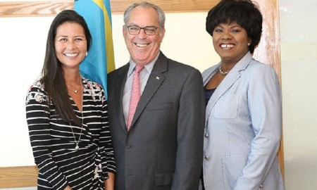 pic #2649 From left are Suzanne Pattusch; Executive Vice President, Bahamas Hotel & Tourism Association; Minister Brent Symonette and Vernice Walkine, President &CEO, NAD. (BIS/Photo Raymond A. Bethel, Sr.)