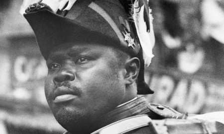 (Original Caption) Marcus Garvey riding in parade. Undated photogrph. (Photo by George Rinhart/Corbis via Getty Images)