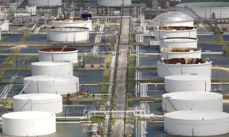 flooded oil refineries