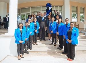 UB and Aliv Executives with UB Students