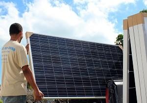 Consortium delivering solar panels to BTVI