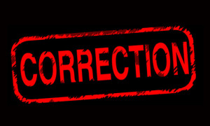 Correction Graphic