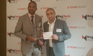 E Jay Saunders and Rohit Trivedi with DSS Award