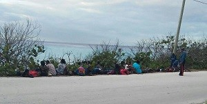 57 Illegal migrants captured in Nassau, Bahamas yesterday.
