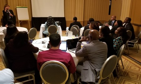 photo dg addressing MOTA USA+Canada sales team