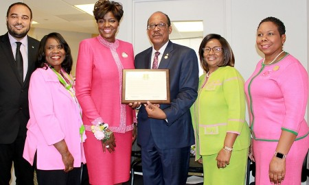 Amb. Collie Receives AKA Proclamation(1)