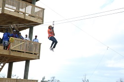 MRS. MINNIS TRIES THE ZIPLINE