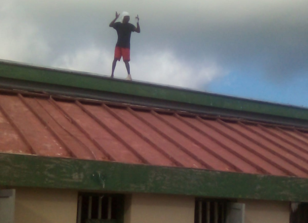 Tci roof Climbing Inmate Gets His Time With Police